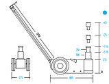Домкрат подкатной пневмогидравлический, г/п 50 тонн NORDBERG N502, фото 2