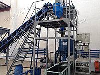 Завод пенобетона в Караганде. Резка пеноблоков