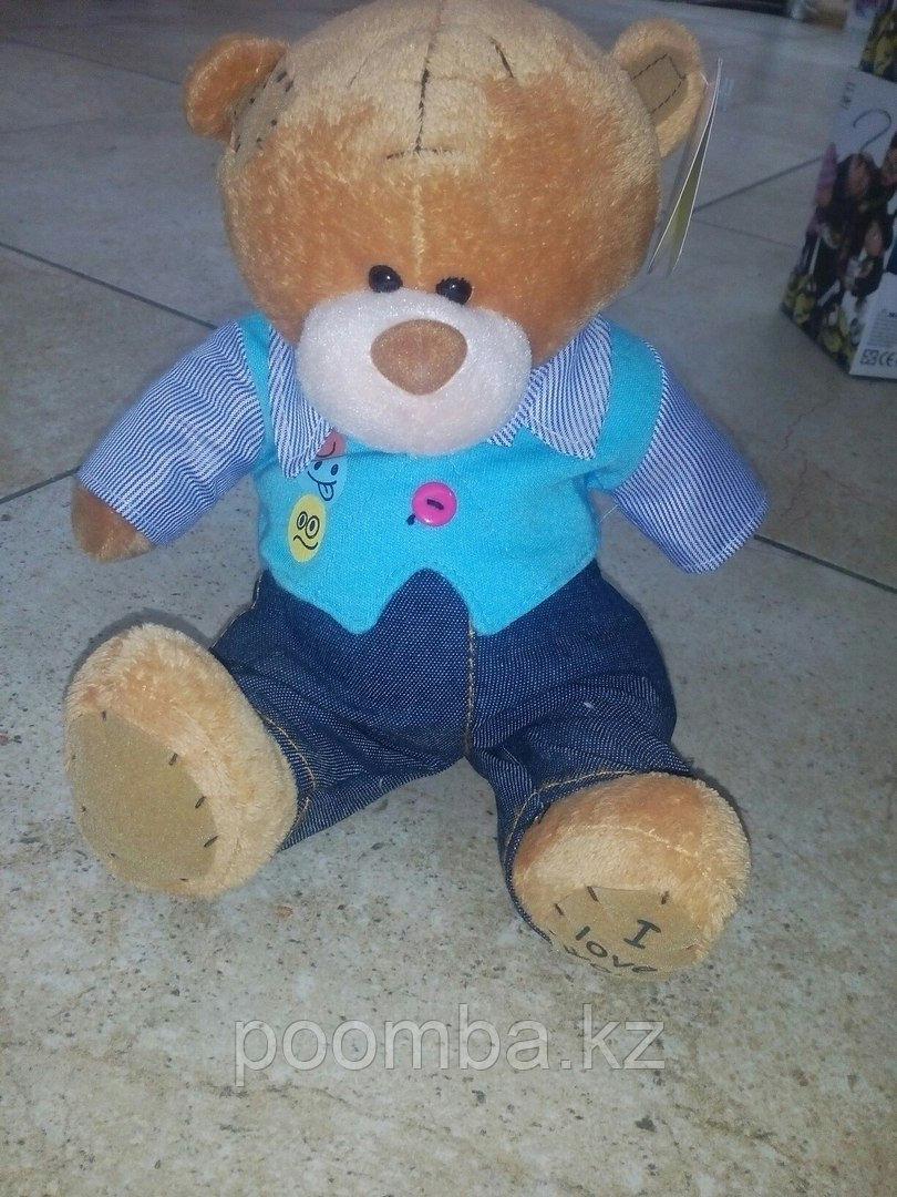 Мягкая игрушка Me to You мишка тедди в голубой жилетке 19 см