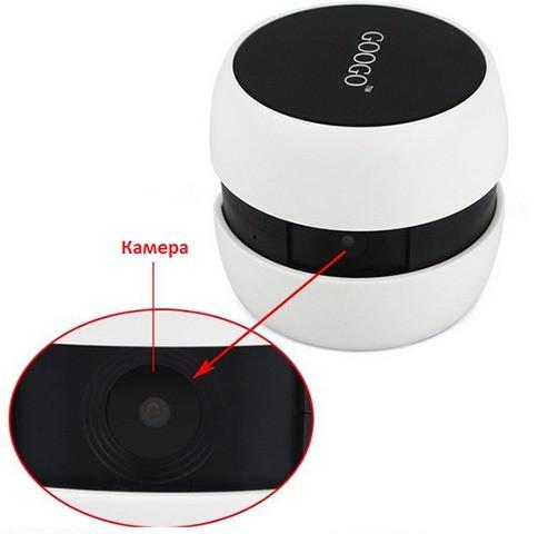 """Камера """"GOOGO"""" оснащена объективом со стеклянной линзой"""