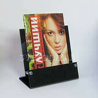 Подставка для буклетов (А5) с металлической фурнитурой. Модель: АС3-004 (ф)