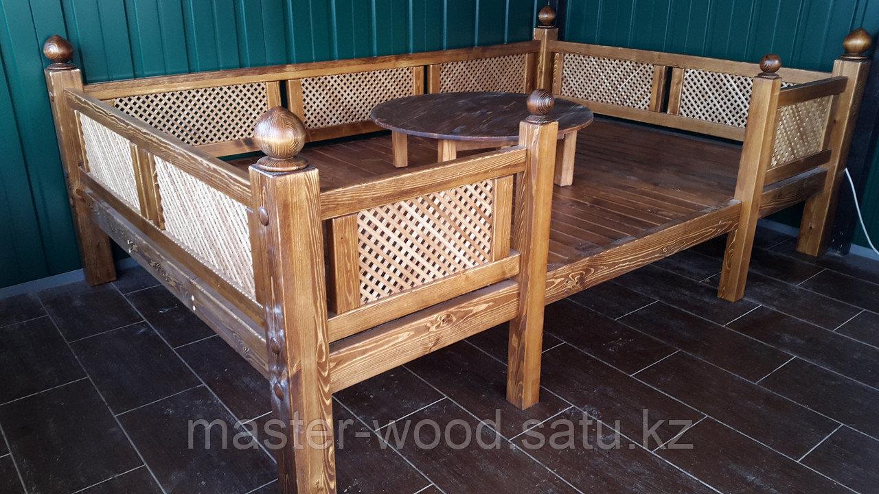 Изготовление садовой деревянной мебели: Беседки, навесы, топчаны, скамейки, лавочки, мостики, столики. - фото 4