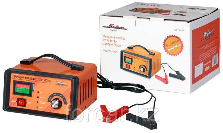 Зарядно-пусковое устройство 2/10/55А 6В/12В, амперметр, трансформаторное, фото 2