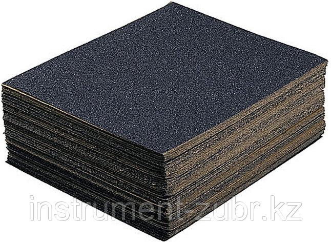 """Лист шлифовальный универсальный STAYER """"MASTER"""" на тканевой основе, водостойкий 230х280мм, Р400, упаковка по 5шт, фото 2"""
