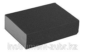"Губка шлифовальная ЗУБР ""ЭКСПЕРТ"" четырехсторонняя, SiC, средняя жесткость, Р80, 100х68х26 мм"