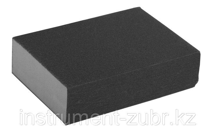 "Губка шлифовальная ЗУБР ""ЭКСПЕРТ"" четырехсторонняя, SiC, средняя жесткость, Р80, 100х68х26 мм                                                         , фото 2"