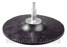 Тарелка опорная ТЕВТОН резиновая с шестигранным хвостовиком, для дрели, 125мм