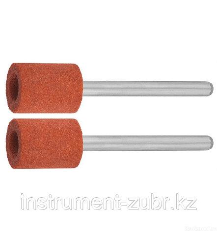 Цилиндр ЗУБР абразивный шлифовальный на шпильке, P 120, d 9,5x12,7х3,2 мм, L 45мм, 2шт                                                                , фото 2