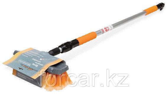 Швабра с насадкой для шланга, щеткой 25 см и телескопической ручкой 200 см, фото 2
