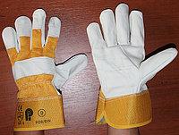 Перчатки рабочие кожа комбинированный,Строительные, рабочие перчатки, рукавицы оптом в Алматы, фото 1