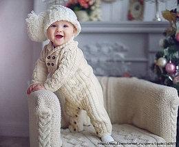 Детские вязанные костюмы-комбинезоны (Турция)