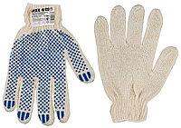 Перчатки трикотажные, 7 класс, х/б, с защитой от скольжения DEXX