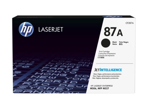 HP CF287A 87A Black LaserJet Toner Cartridge for LaserJet M506/M527, up to 9000 pages