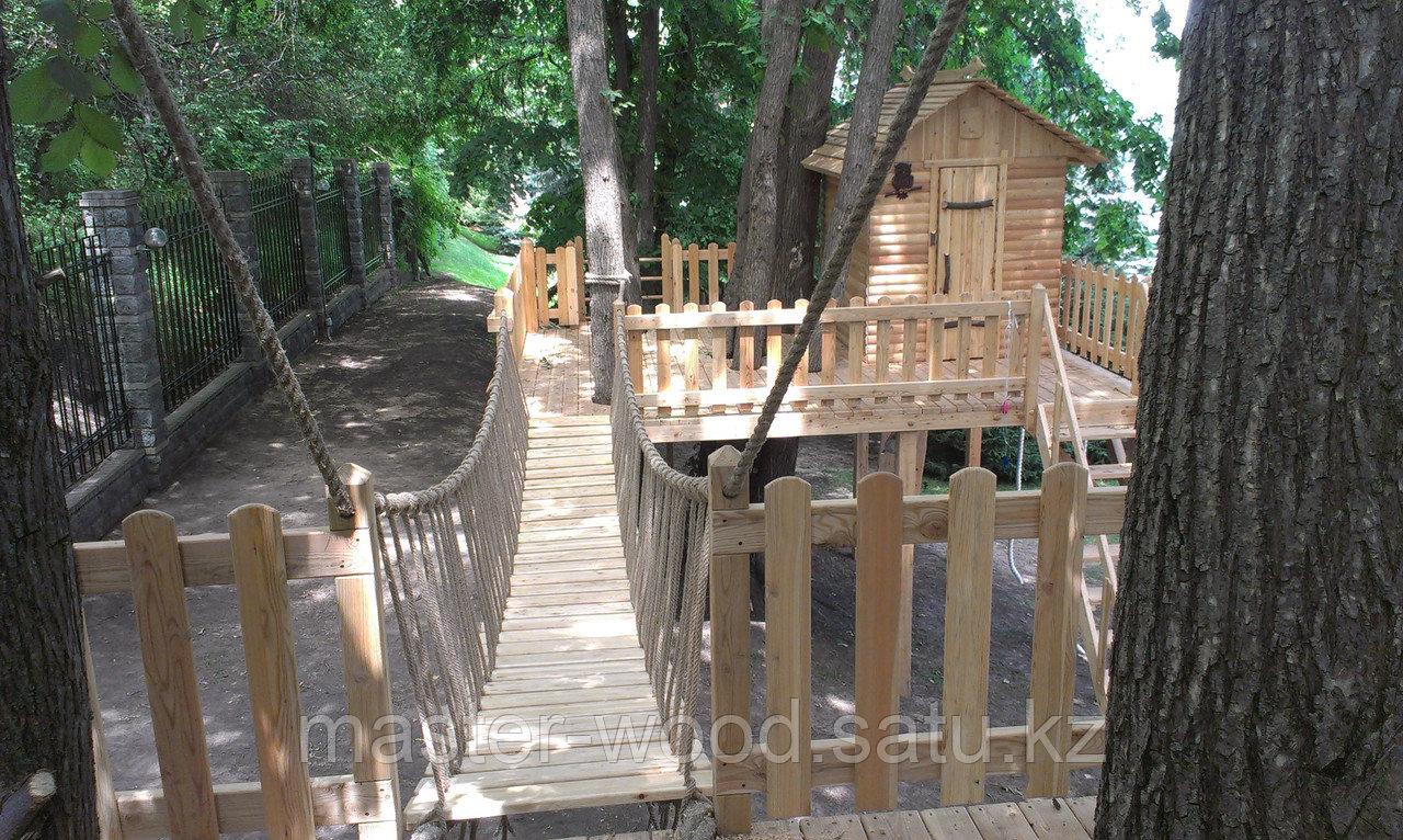 Деревянные садовые домики и домики на деревьях - фото 5