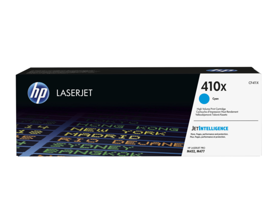 HP CF411X Картридж лазерный HP 410X голубой для Color LaserJet Pro M452/M477, ресурс 5000 pages