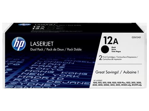 HP Q2612AF 12A Dual Pack Black Print Cartridge
