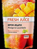 Крем-мыло с маслом камелии Mango & Carambol дой пак