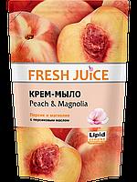 Крем-мыло с персиковым маслом Peach & Magnolia дой пак