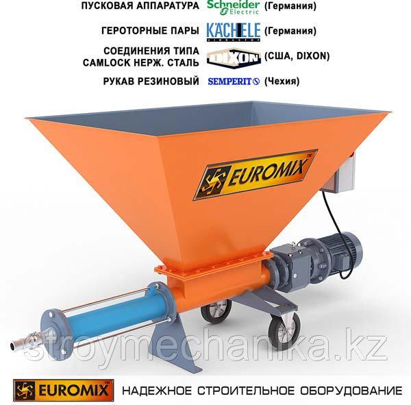 Растворонасос для растворов, пенобетона, полистиролбетона EUROMIX 400.8.300