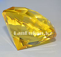 Сувенир кристалл из камня желтый 50 гр