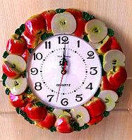 """Часы для кухни """"Сочные яблоки"""", керамические, фото 1"""