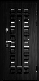 Дверь СЕНАТОР-2060/980/L/R квадро тик/венге