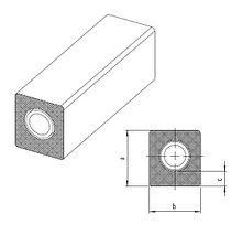 Трубы RAUTITAN stabil с прямоугольной изоляцией