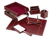 Настольный набор для руководителя кожаный на 7 предметов