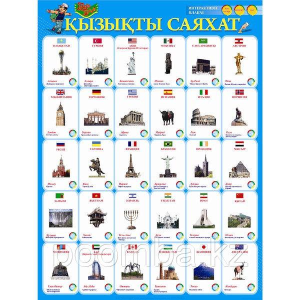 """Интерактивный плакат """"ҚЫЗЫҚТЫ САЯХАТ"""" каз.яз"""