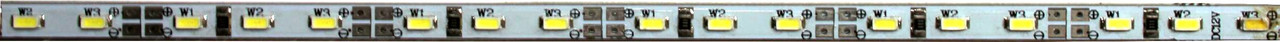 Светодиодная жесткая лента 120SMD3014, IP20, 12W, белого свечения 10000-12000 K, 1м