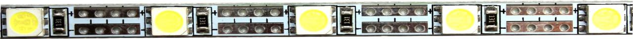 Светодиодная жесткая лента 50SMD5050, IP20, 12W, белого свечения 10000-12000 K, 1м
