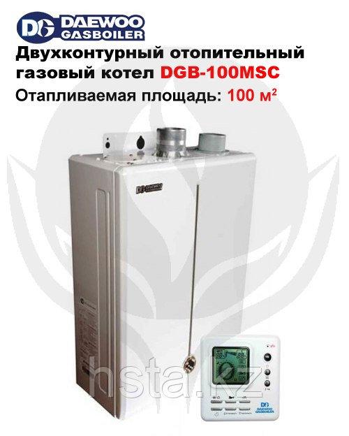 Газовый двухконтурный, настенный, водогрейный, отопительный котел DAEWOO DGB-100
