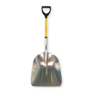 Лопата для снега алюминиевая c деревянным черенком и V-ручкой