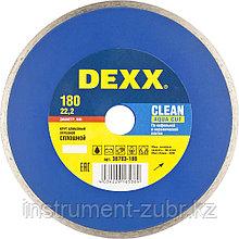 Круг отрезной алмазный DEXX, сплошной, для УШМ, 180х22,2мм