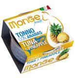 Monge Cat Fruits Влажный корм для кошек с фруктами тунец с ананасом, 80гр