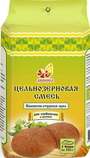 Мука Пшенично-отрубная, алтайская хлебопекарная, цельнозерновая смесь, 700гр
