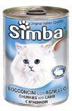 Simba Cat Симба консервы для кошек кусочки с ягненком, 415г