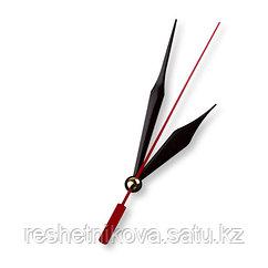 Стрелки для часовых механизмов(часовая/минутная/секундная) черный/красный