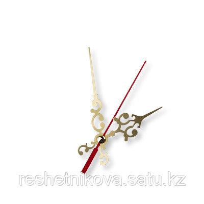 Стрелки для часовых механизмов(часовая/минутная/секундная) золото/красный