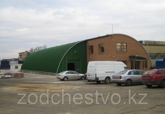 Строительство бескаркасных зданий из оцинкованной стали.