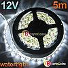Водонепроницаемая автомобильная светодиодная лента SMD 5050 (5м.белая)