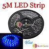 Гибкая светодиодная подсветка для автомобиля SMD 1210 (5 м. синяя)