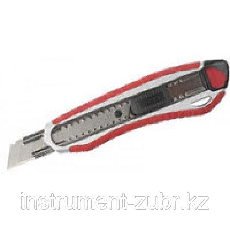 """Нож ЗУБР """"ЭКСПЕРТ"""" с сегментированным лезвием 18 мм, металлический корпус, автоматический фиксатор лезвия               , фото 2"""