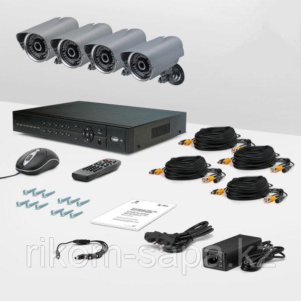 Комплект видео наблюдения из 4-х камер с жестким диском