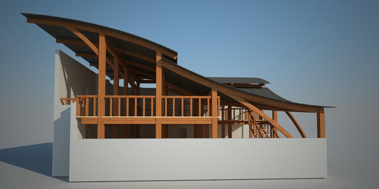 Проект-дизайн деревянных навесов