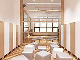 Дизайн зала для йоги с детской площадкой, фото 3