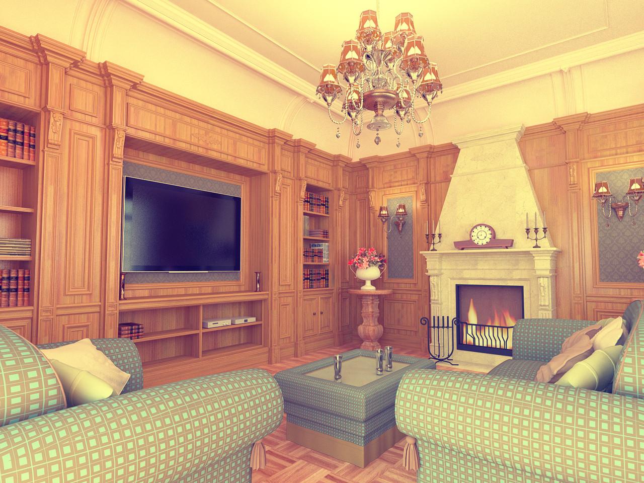 Классическая гостинная - дизайн