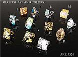 Кольца из муранского стекла, ручная работа, Италия, фото 3