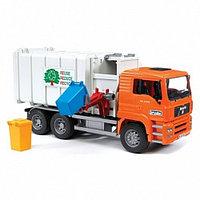 Мусоровоз MAN (цвет кузова серый, кабина – оранжевый), фото 1