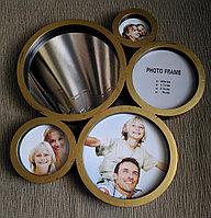 Фоторамка - коллаж на 4 фото,с зеркалом, фото 1